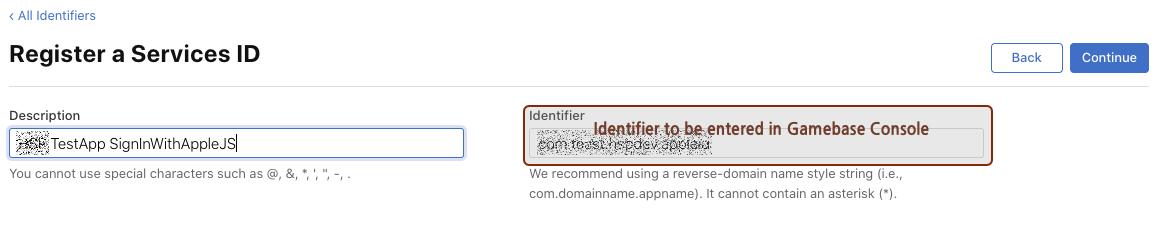 Create new Service ID